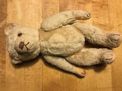 "ANTIQUE STEIFF 11"" 5-WAY JOINTED TEDDY BEAR ANTIQUE WHITE No ID"