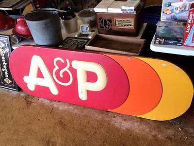 Vintage A&P Grocery Store Sign Plastic Part of Lighted Sign