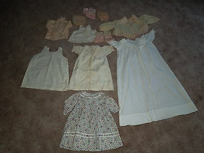 Vintage LOT OF Childrens Clothing Toddler ~ White Slip Dress/CROCHET,HATS