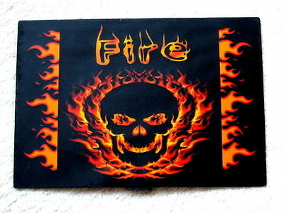 Sound Activated Flash Fire Skull Skeleton Led Panel For T Shirt Party Dance Rock