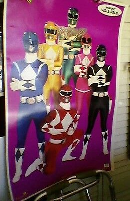 Power Rangers Lithograph Poster Print POP-Out Wall Pals Limited Printing RARE