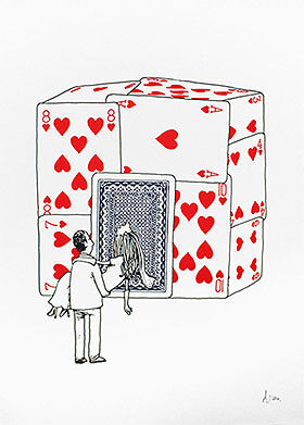Dran House Of Cards Signed And Numbered Limited Art Print