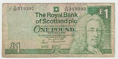 1987 Royal Bank of Scotland - Scotland 1 Pound, circulated