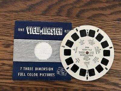 View Master Reel VICTORIA FALLS SOUTHERN RHODESIA AFRICA Sawyers 3100