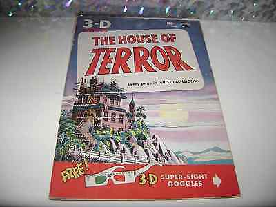 3-D comics The House of Terror - precode horror comic book St. Johns publishing