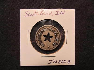 South Bend, IN Transit Token - South Bend, IN Transportation Token Coin IN860B
