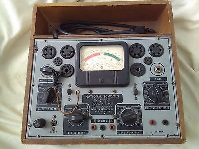 Vintage Tube Tester N.S. 802, Powers On, As is Untested