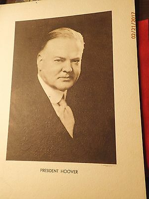 1920s Underwood Fine Art Photograph on Board President Herbert Hoover