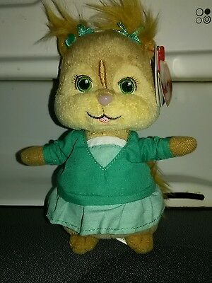 Eleanor TY beanie baby Alvin and the Chipmunks With tags