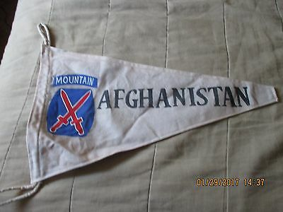 Modern   Us Army 10 Th Mountain  Div Afghanistan   Campaign  Banner  Flag