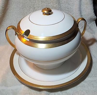MINTON BUCKINGHAM-Tureen With Lid and Round Underplate-EXCELLENT