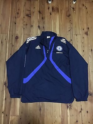 New Authentic Chelsea Adidas On Field Adults Soccer Jacket Jersey Sz M