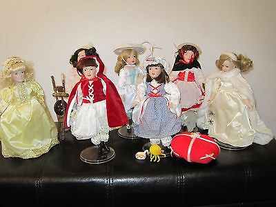 The Story Book Collection Dolls Lot of 7 Vintage Danbury Mint