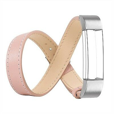 Leather Band for Fitbit Alta Wearlizer Genuine Leather Double Tour Smart Watc...