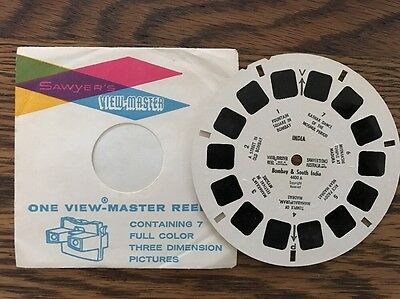 View Master Reel INDIA BOMBAY AND SOUTH INDIA Sawyers 4400A