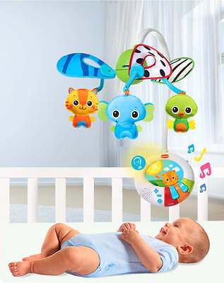 Relaxing Nursery Crib Bed Baby Music Lullaby Motion Mobile Toy Developmental NEW