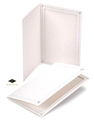 BETTER CRAFTS Cardboard Photo Folder 4x6 - Pack of 100 White