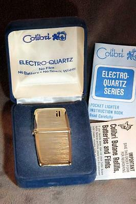 Vintage COLIBRI Electro-Quartz Butane Lighter w/ Original Box & Papers
