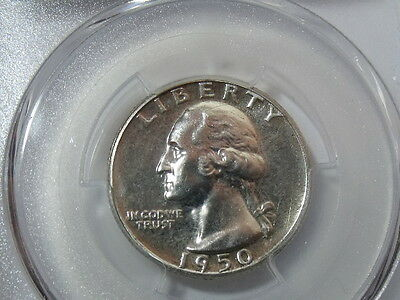 1950 Proof Washington Silver Quarter PCGS PR66