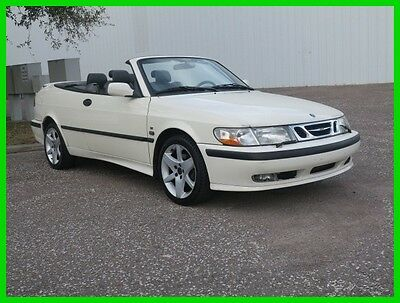 2002 Saab 9-3 SE CONVERTIBLE EXCELLENT CONDITION $99 NO RESERVE 2002 SAAB 93 TURBO CONVERTIBLE FLORIDA CAR AT LEATHER SHARP RUNS NEEDS REPAIR