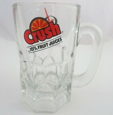 Vintage Advertising Crush Soda Collectible Glass Beer Stein Mug Cup