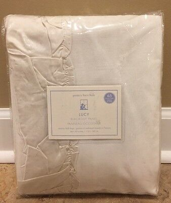 "NEW Pottery Barn Kids Lucy 44"" x 63"" Panel IVORY"