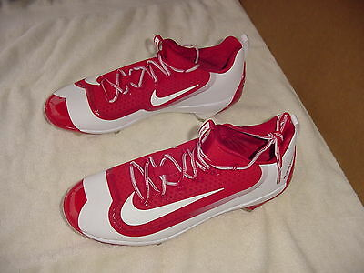 Nike Max Air Huarache Pro Baseball Cleats Red / White Mens Size 11 Nikebsbl Mlb
