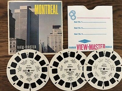 View Master Reels MONTREAL QUEBEC CANADA Sawyers A051 - 3 REELS