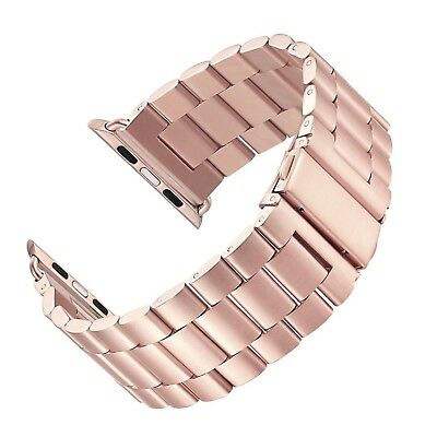LNKOO Stainless Steel Metal Clasp Watchbands Replacement Wrist Strap Classic New