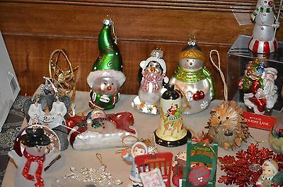Huge Lot Of various Christmas Tree Ornaments & Decor Macy Glass blown & more