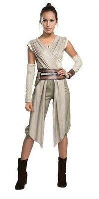 Ladies Costume Fancy Dress Up Star Wars REY DELUXE size Small 6-10
