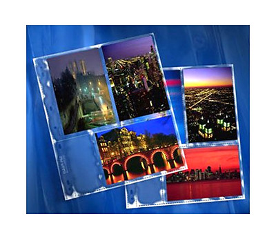 """ClearFile Archival-Plus Print Page, Holds Six 4 x 6"""" Prints - 25 Pack"""