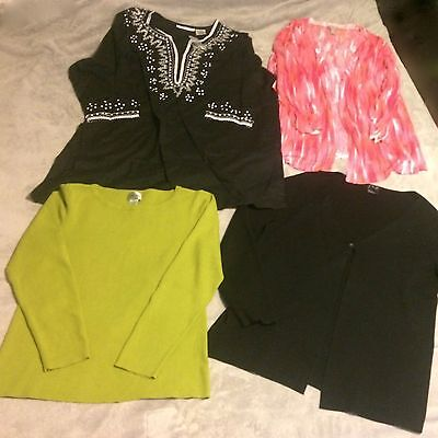Mixed Lot of 4 Women's Size Large Shirts Chicos INC Chelsea Studio