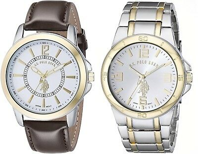 U.S. Polo Assn. Classic Men's USC2254 Set of 2 Two-Tone Watches 44 mm metal case