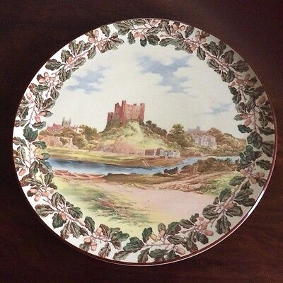 Antique Royal Doulton Plate  vintage castle acorns leaves large platter