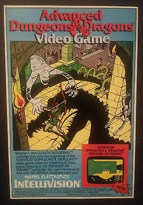 1983 Advanced Dungeons & Dragons Video Game promo ad Intellivision