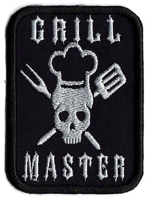 Grill Master BBQ applique patch Iron/Sew on