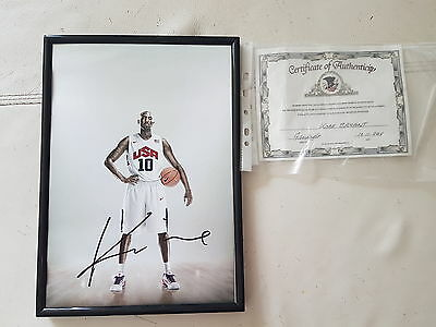 Kobe bryant signed photo with letter of authenticity