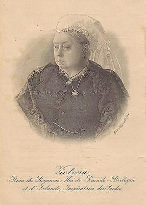 OLD ANTIQUE 19th CENTURY ENGRAVING PRINT PLATE of QUEEN VICTORIA by AUGUST WEGER