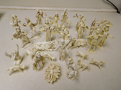 Vintage Lot Depose Italy Nativity Angel Greece Western Musical Animal Figurines