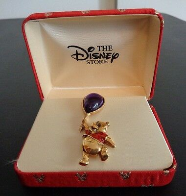 Vintage DISNEY STORE Balloon WINNIE THE POOH Pin NEW In Gift Box FREE SHIPPING