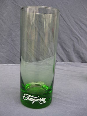 Vintage Tanqueray Emerald Green Collins Drinking Glass - (1) Glass