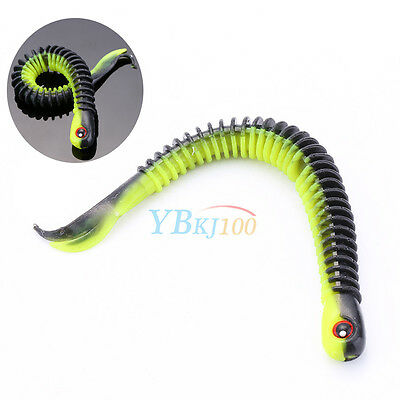 Soft Plastic Bait Fishing Lures Small Hook Worm Bass Crankbaits Tackle 12.5cm SG