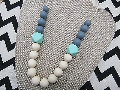 Teething Silicone Necklace, Chew Beads, MOM and BABY Nursing Breastfeeding Gift!