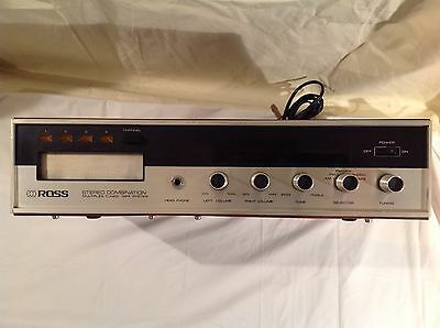 Vintage ROSS AM/FM Stereo 8-Track Player Receiver Model 6601