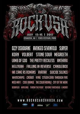 Multiple Sizes CHICAGO OPEN AIR 2017 Poster Concert Lineup