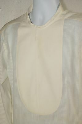 Vintage 1900's Mens Victorian Edwardian Collarless Bib Tuxedo Dress Shirt 2923