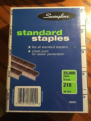 Swingline Standard Staples 5000 Count #35101 ( Pack of 5 ) 25,000 staples