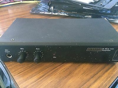 Redback A4016 15W PA Amplifier Compact Microphone Aux Input Made in OZ