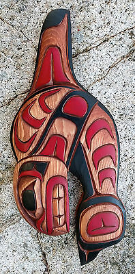 Northwest Coast BC Canada First Nations Indigenous Art KILLER WHALE Carving